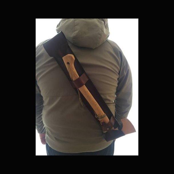 Værktøj taske til økse og sav ( Læder )