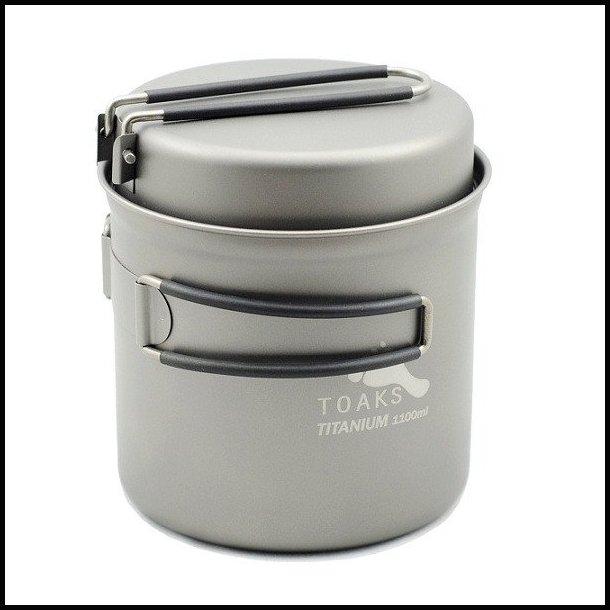 Toaks Titanium gryde med pande 1100 ml.