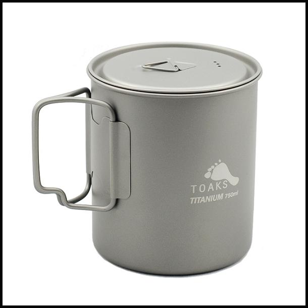 Toaks Titaniums kop 750 ml.