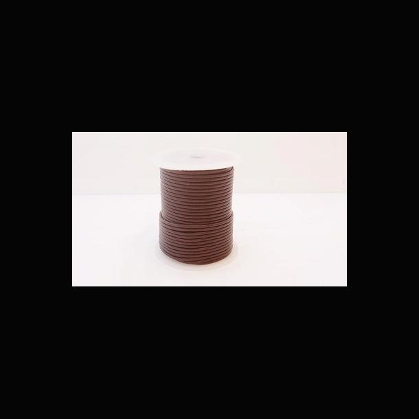 Lædersnøre 3 mm. rund