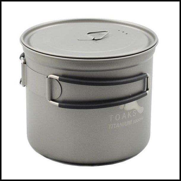 Toaks Titanium gryde med låg 1100 ml.