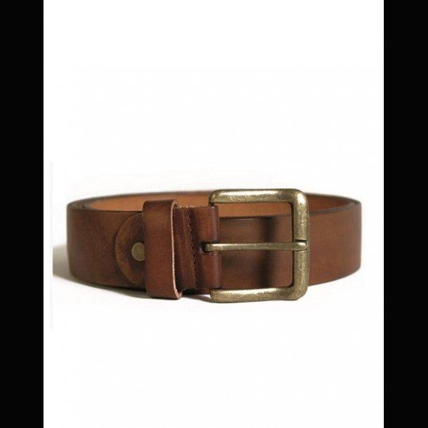 Læderbælte brun